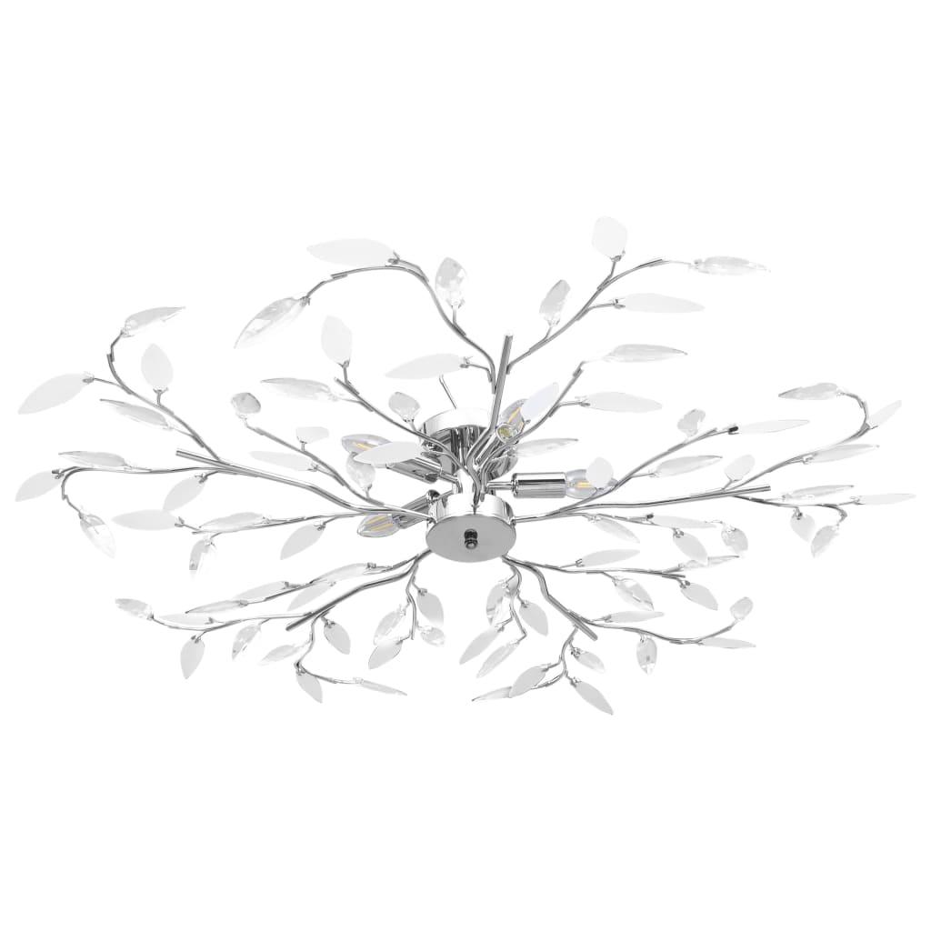 Stropní svítidlo s akrylovými lístky pro 5 žárovek E14 bílé