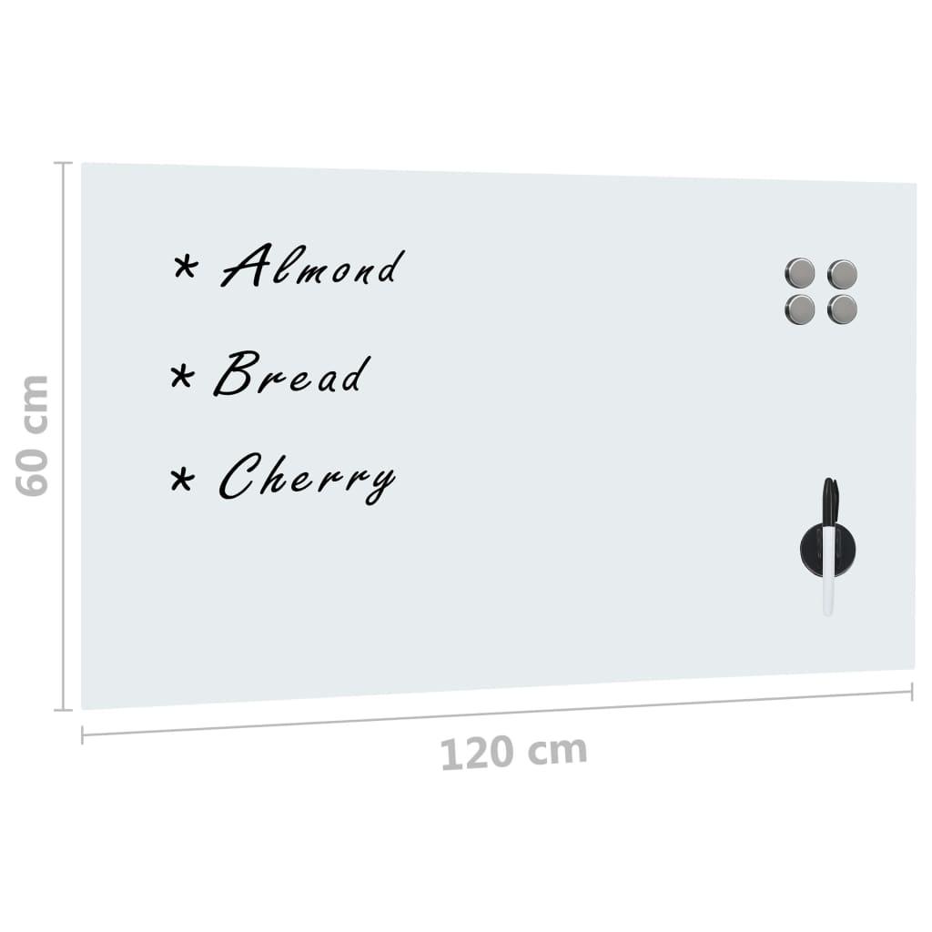 vidaXL Magneetbord voor aan de wand 120x60 cm glas