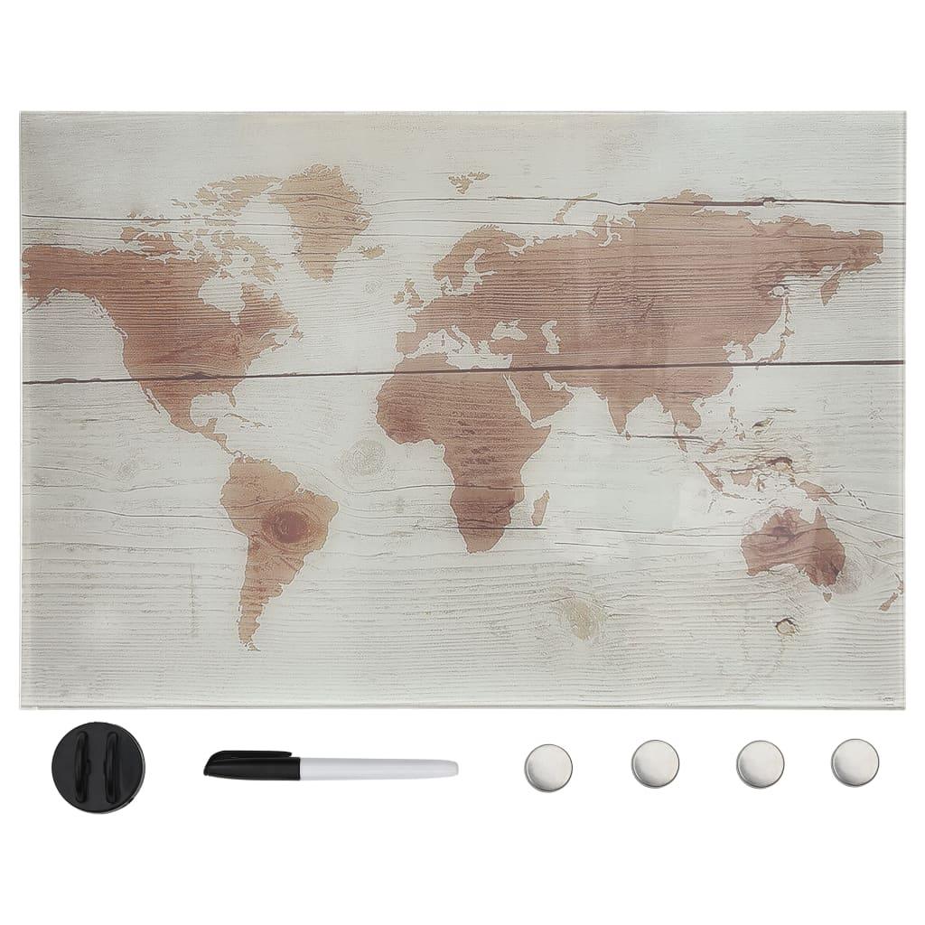 Nástěnná magnetická tabule sklo 50 x 30 cm