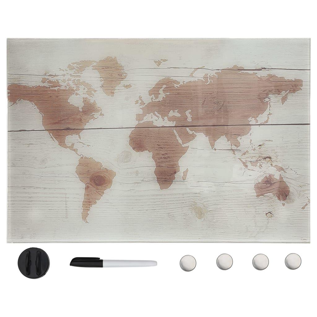 Nástěnná magnetická tabule sklo 60 x 40 cm