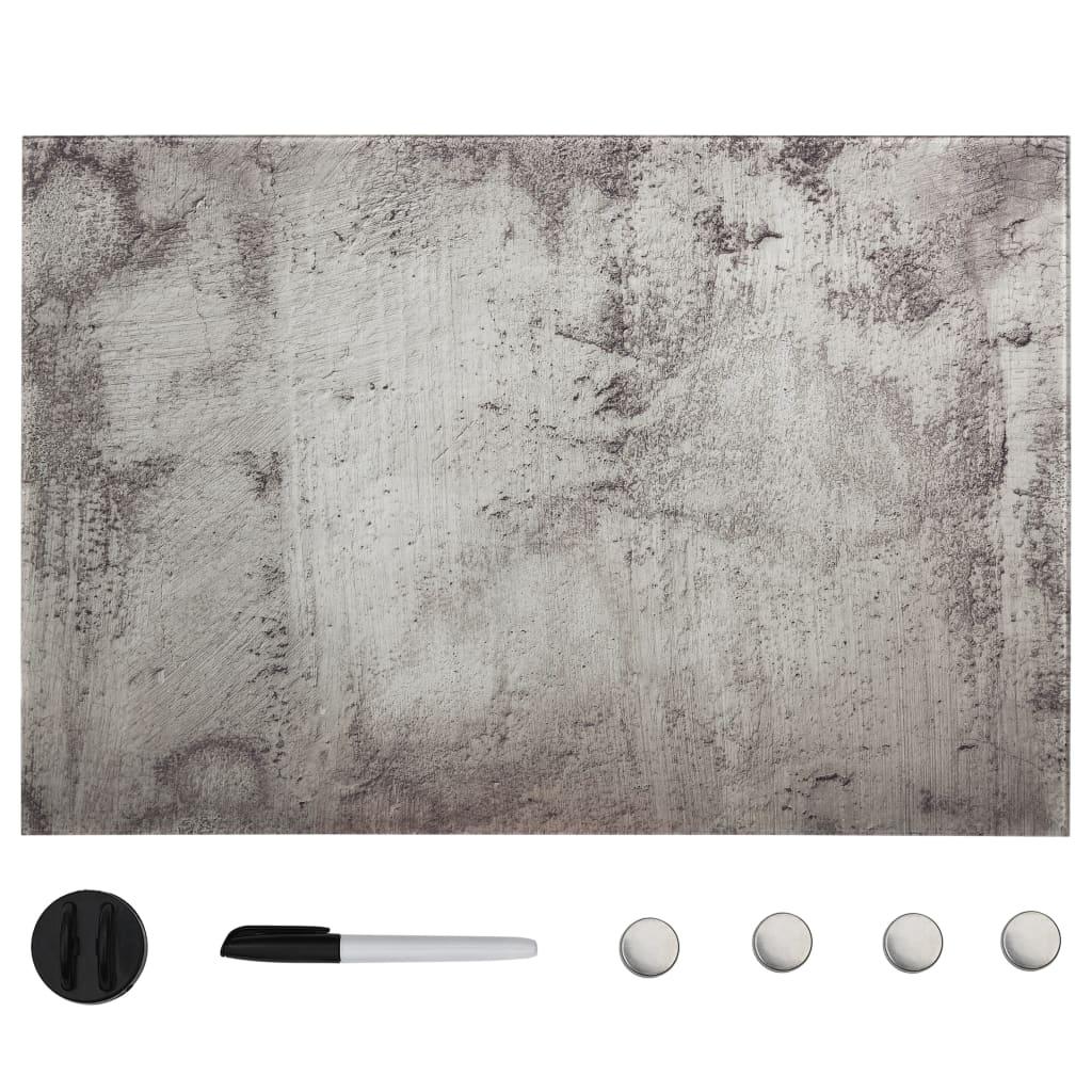 vidaXL Nástěnná magnetická tabule sklo 50 x 30 cm