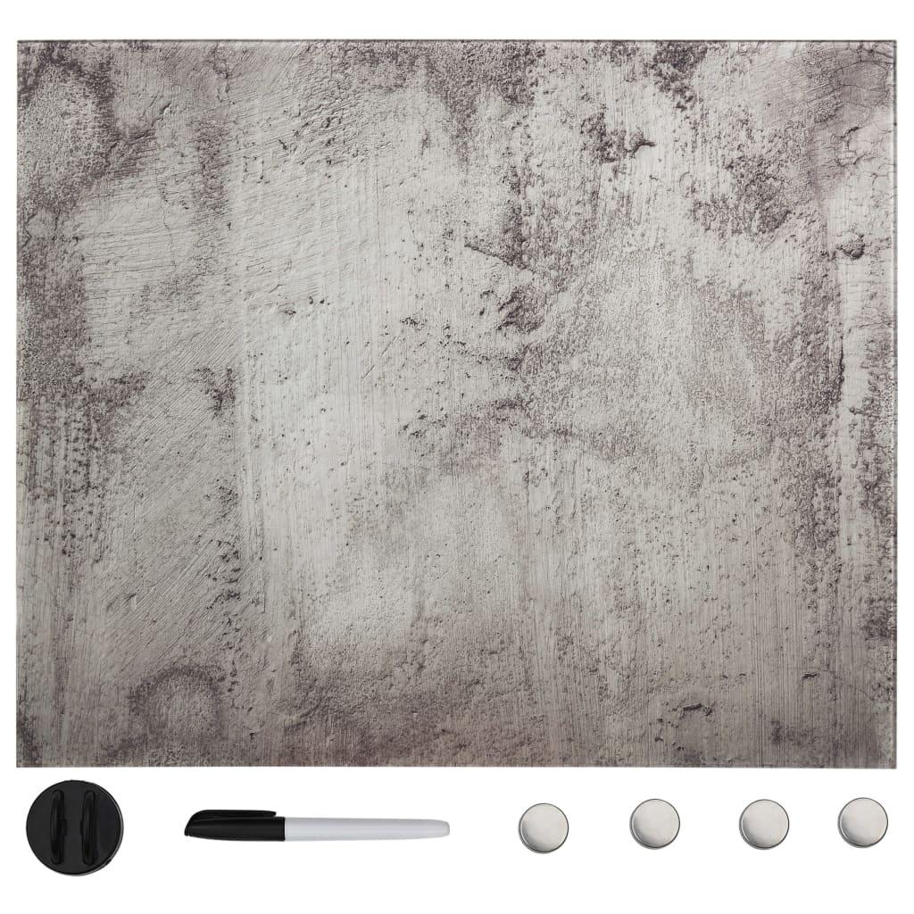 Nástěnná magnetická tabule sklo 50 x 50 cm