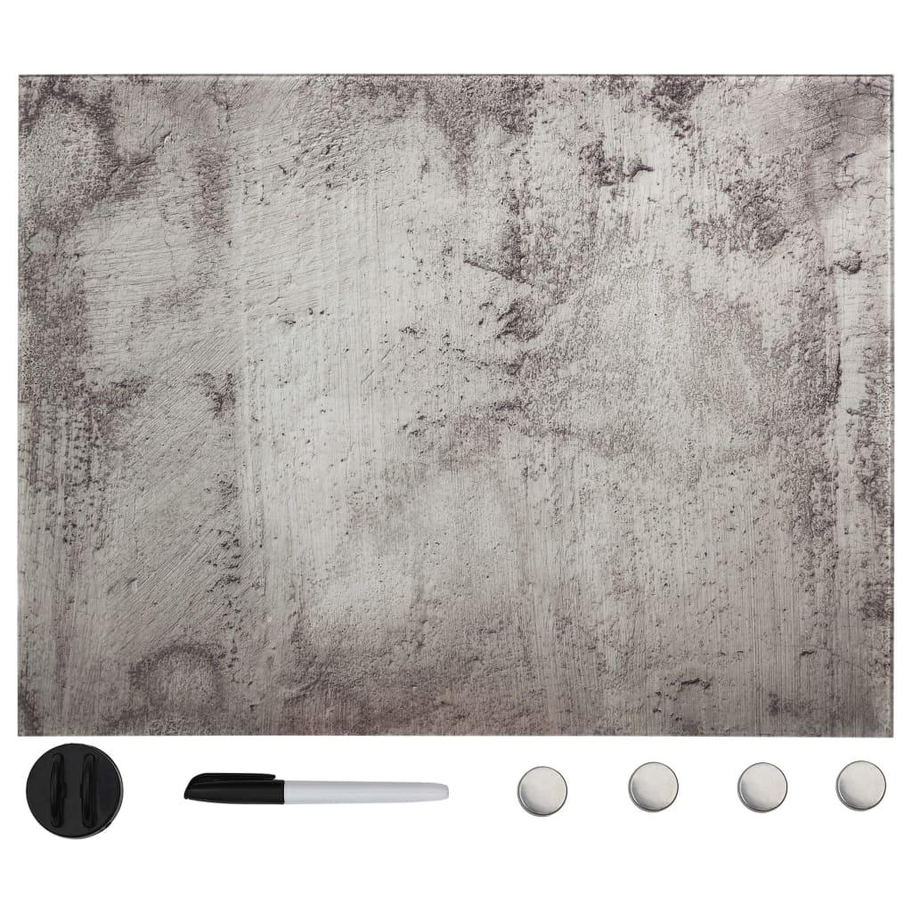 vidaXL Nástěnná magnetická tabule skleněná 80 x 60 cm