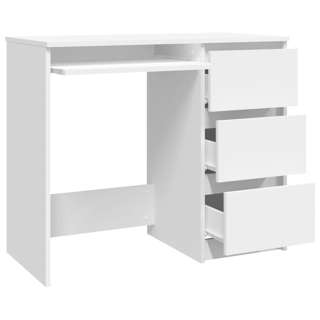 vidaXL Bureau 90x45x76 cm spaanplaat wit