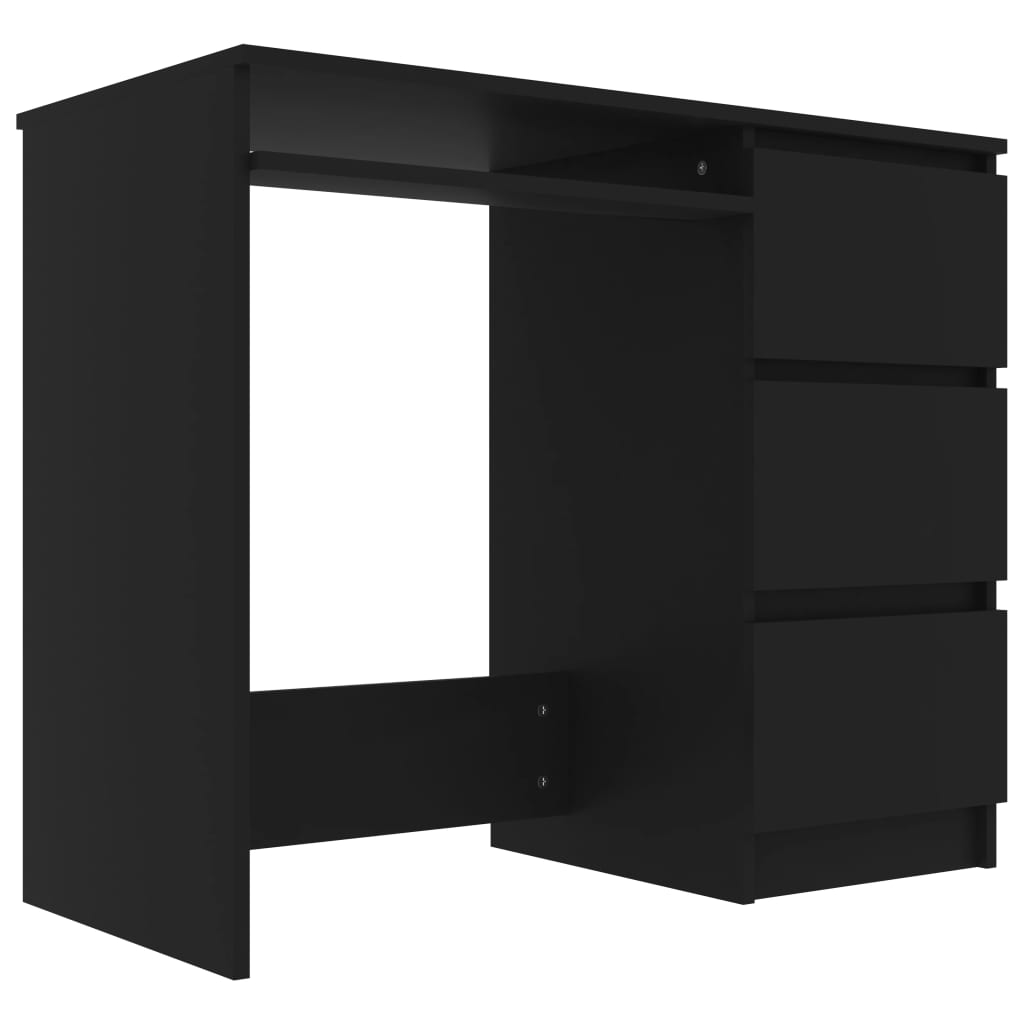 vidaXL Γραφείο Μαύρο 90 x 45 x 76 εκ. από Μοριοσανίδα