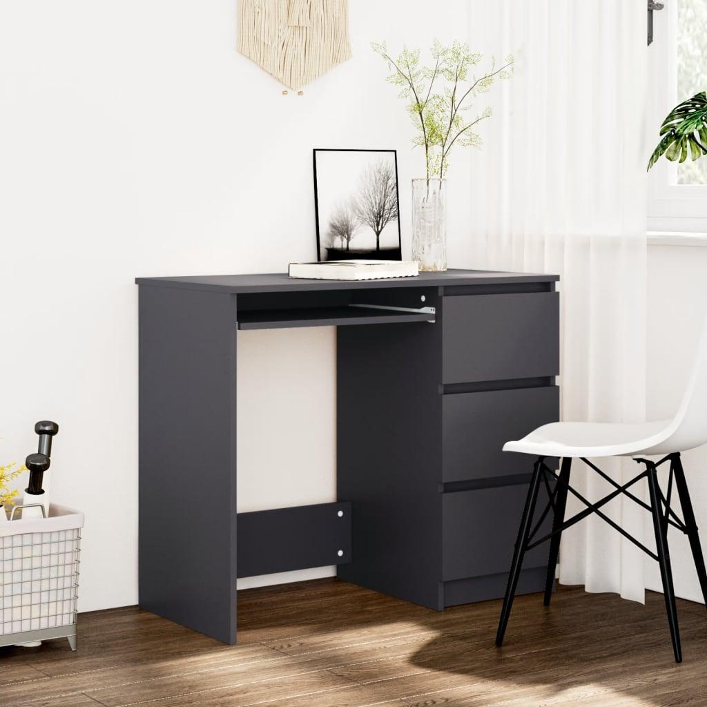 Psací stůl šedý 90 x 45 x 76 cm dřevotříska