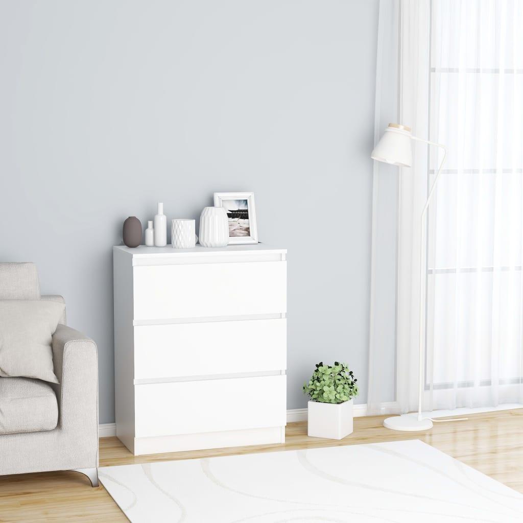 vidaXL Příborník bílý 60 x 35 x 76 cm dřevotříska