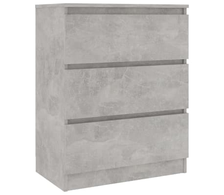 vidaXL Servantă, gri beton, 60 x 35 x 76 cm, PAL