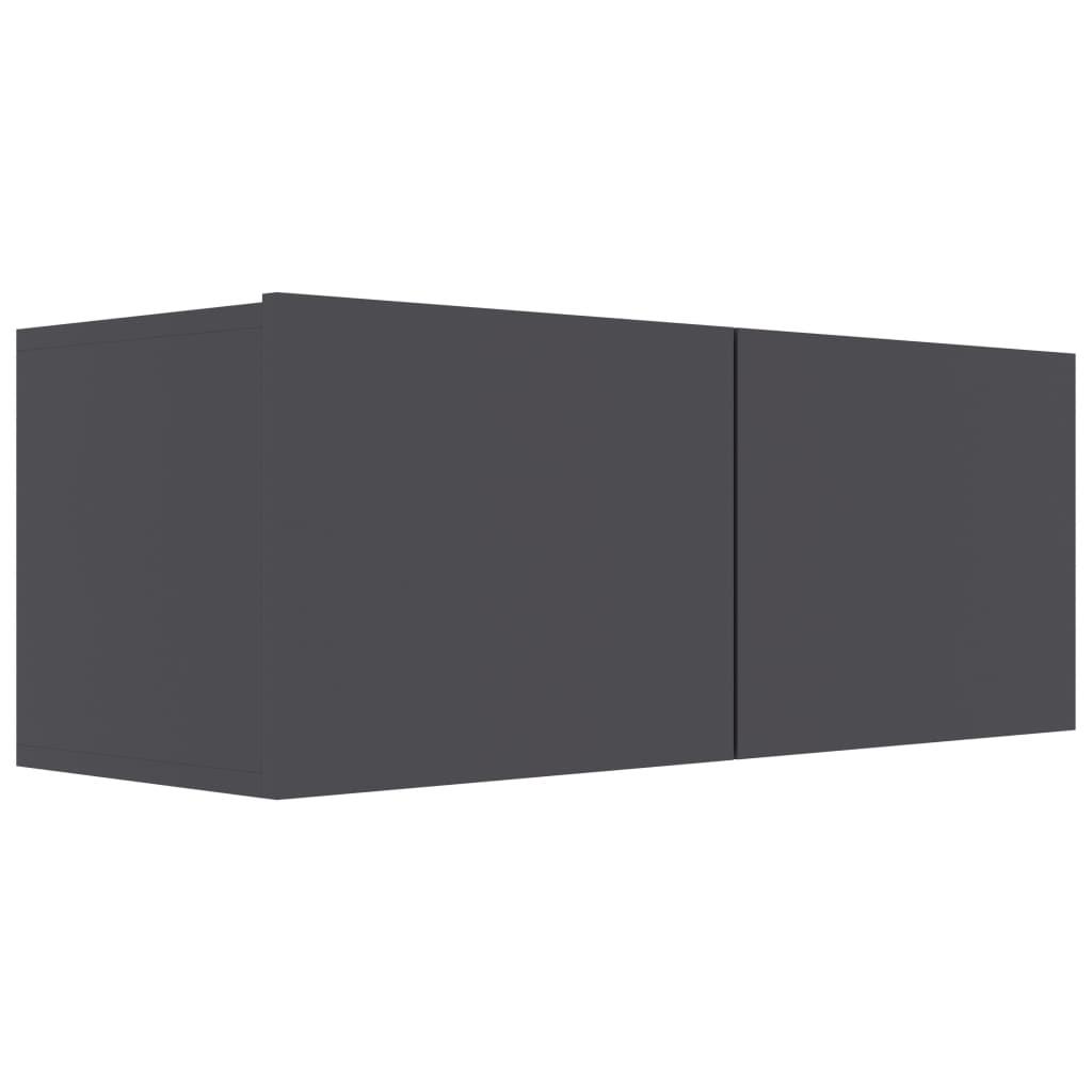 vidaXL Tv-meubel 80x30x30 cm spaanplaat grijs