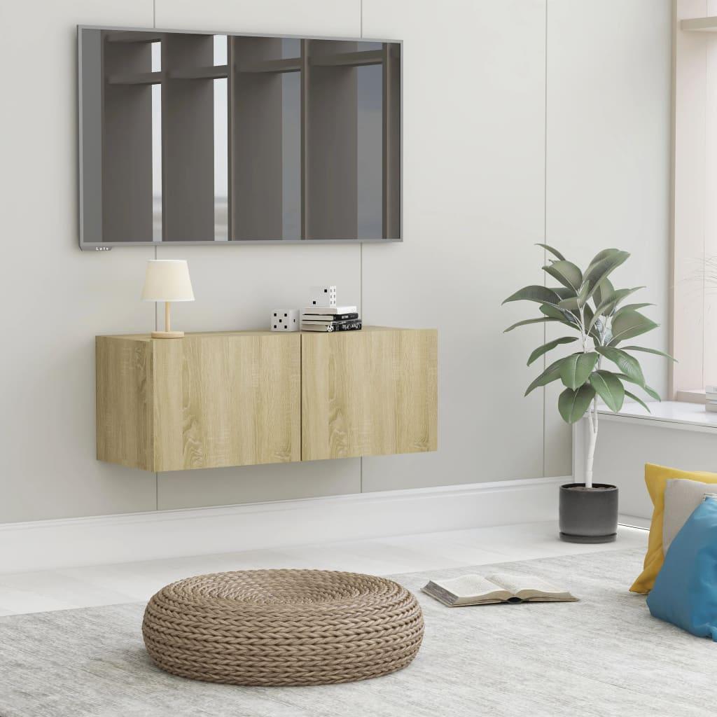 TV stolek dub sonoma 80 x 30 x 30 cm dřevotříska
