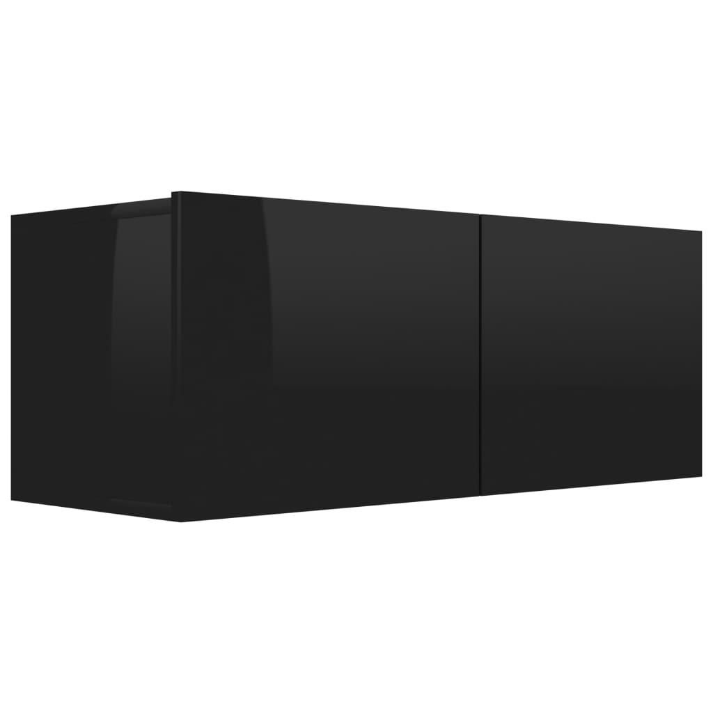 vidaXL Έπιπλο Τηλεόρασης Γυαλιστερό Μαύρο 80x30x30 εκ. Μοριοσανίδα