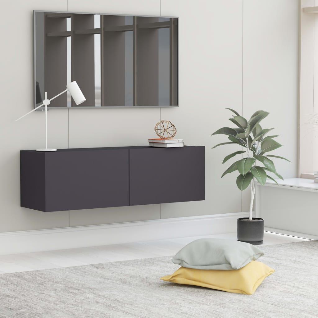 TV stolek šedý 100 x 30 x 30 cm dřevotříska