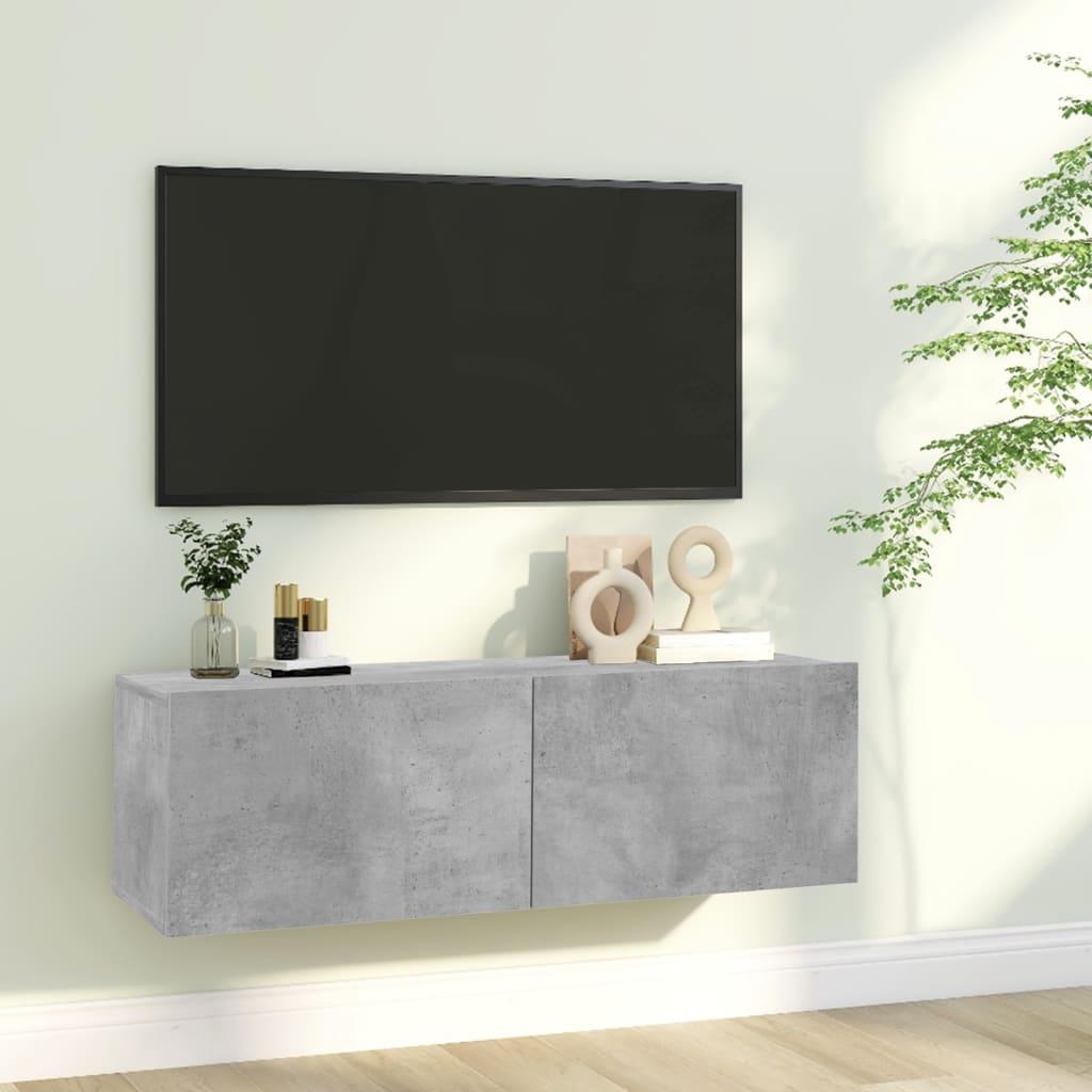 TV stolek betonově šedý 100 x 30 x 30 cm dřevotříska