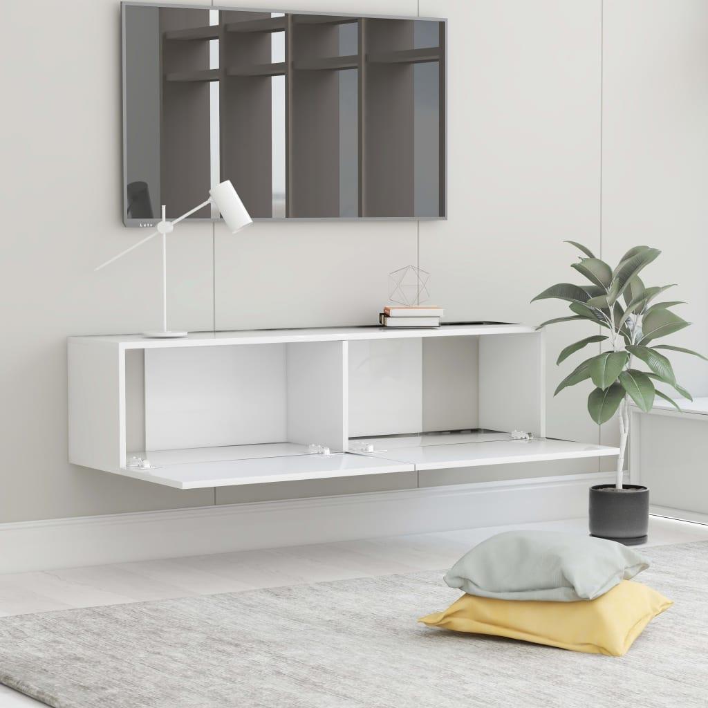 vidaXL Tv-meubel 120x30x30 cm spaanplaat wit