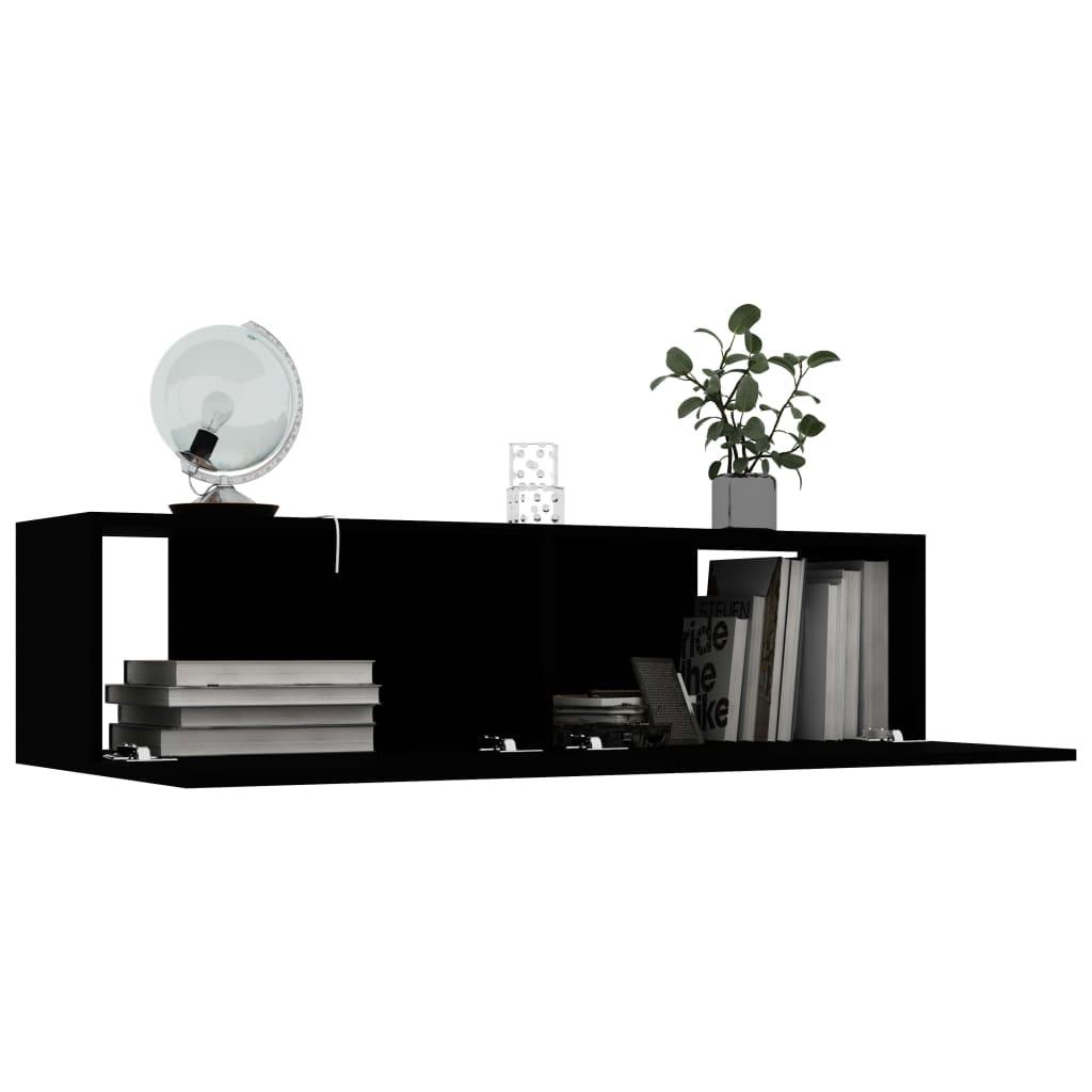 vidaXL Tv-meubel 120x30x30 cm spaanplaat zwart