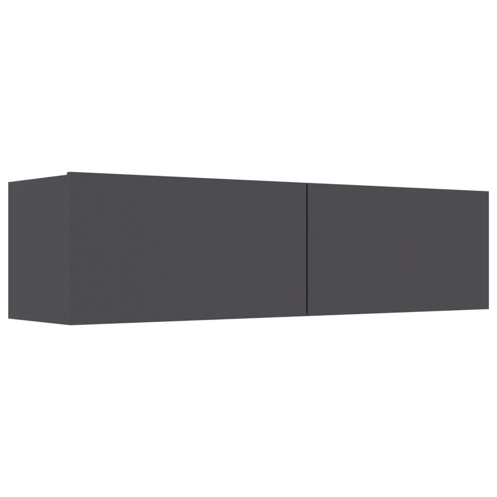 vidaXL Έπιπλο Τηλεόρασης Γκρι 120 x 30 x 30 εκ. από Μοριοσανίδα
