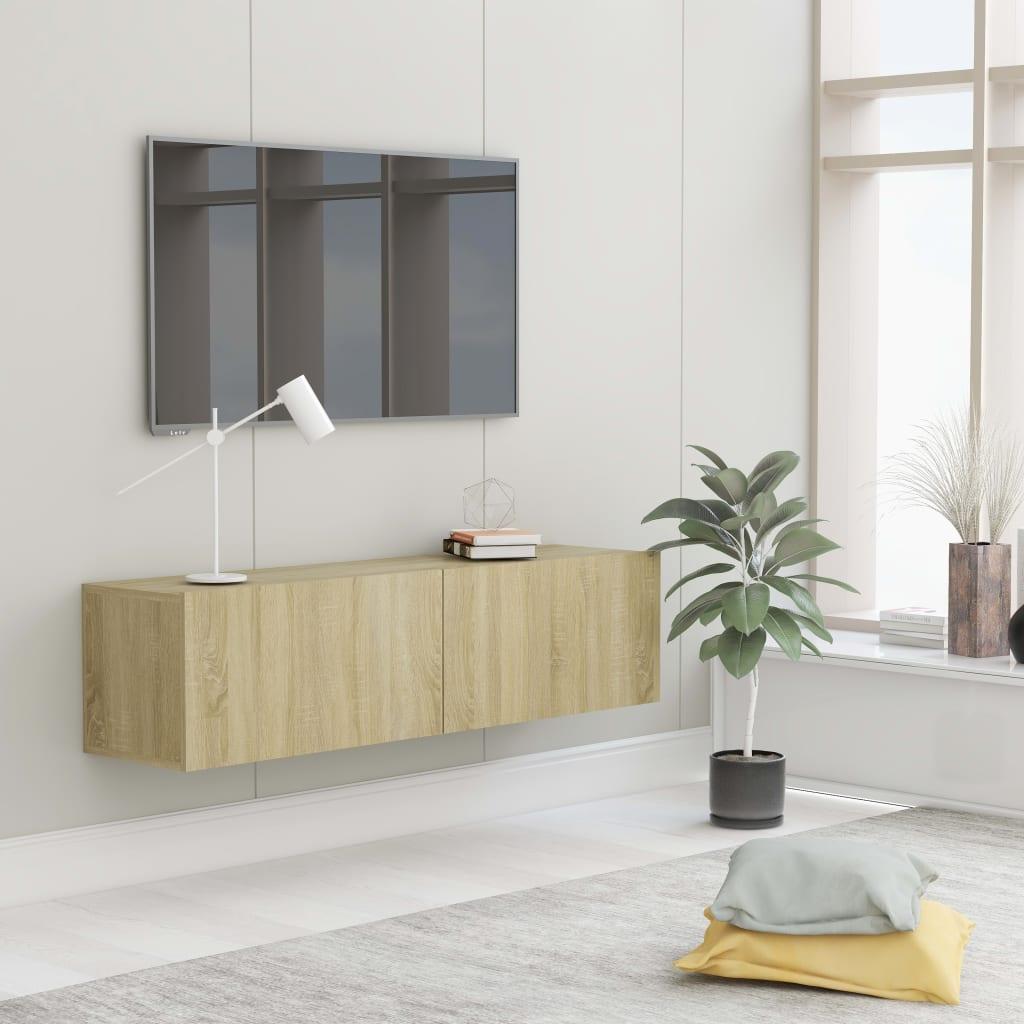 vidaXL Tv-meubel 120x30x30 cm spaanplaat sonoma eikenkleurig