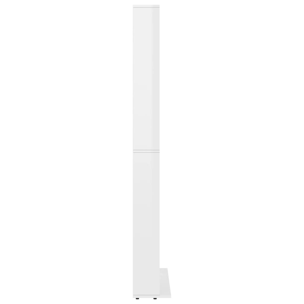 vidaXL Cd-kast 102x23x177,5 cm spaanplaat hoogglans wit