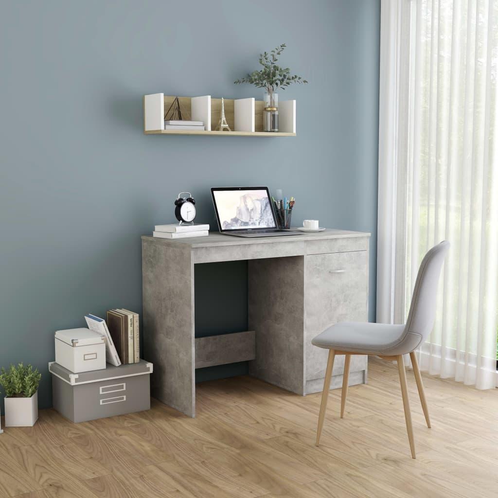 Psací stůl betonově šedý 100 x 50 x 76 cm dřevotříska