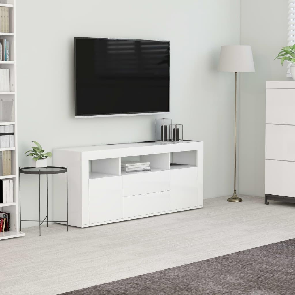 vidaXL Szafka pod TV, biała, 120x30x50 cm, płyta wiórowa