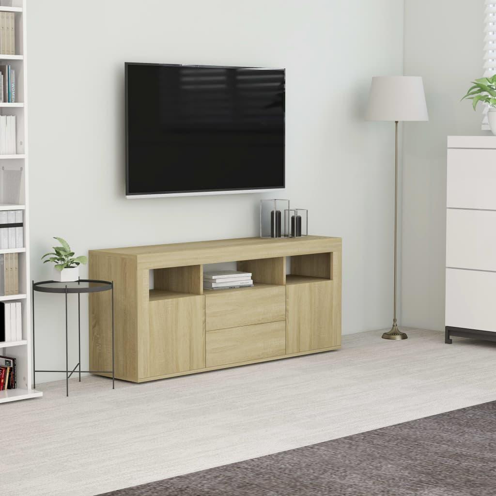 vidaXL Comodă TV, stejar Sonoma, 120 x 30 x 50 cm, PAL poza vidaxl.ro