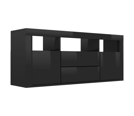 vidaXL Tv-meubel 120x30x50 cm spaanplaat hoogglans zwart