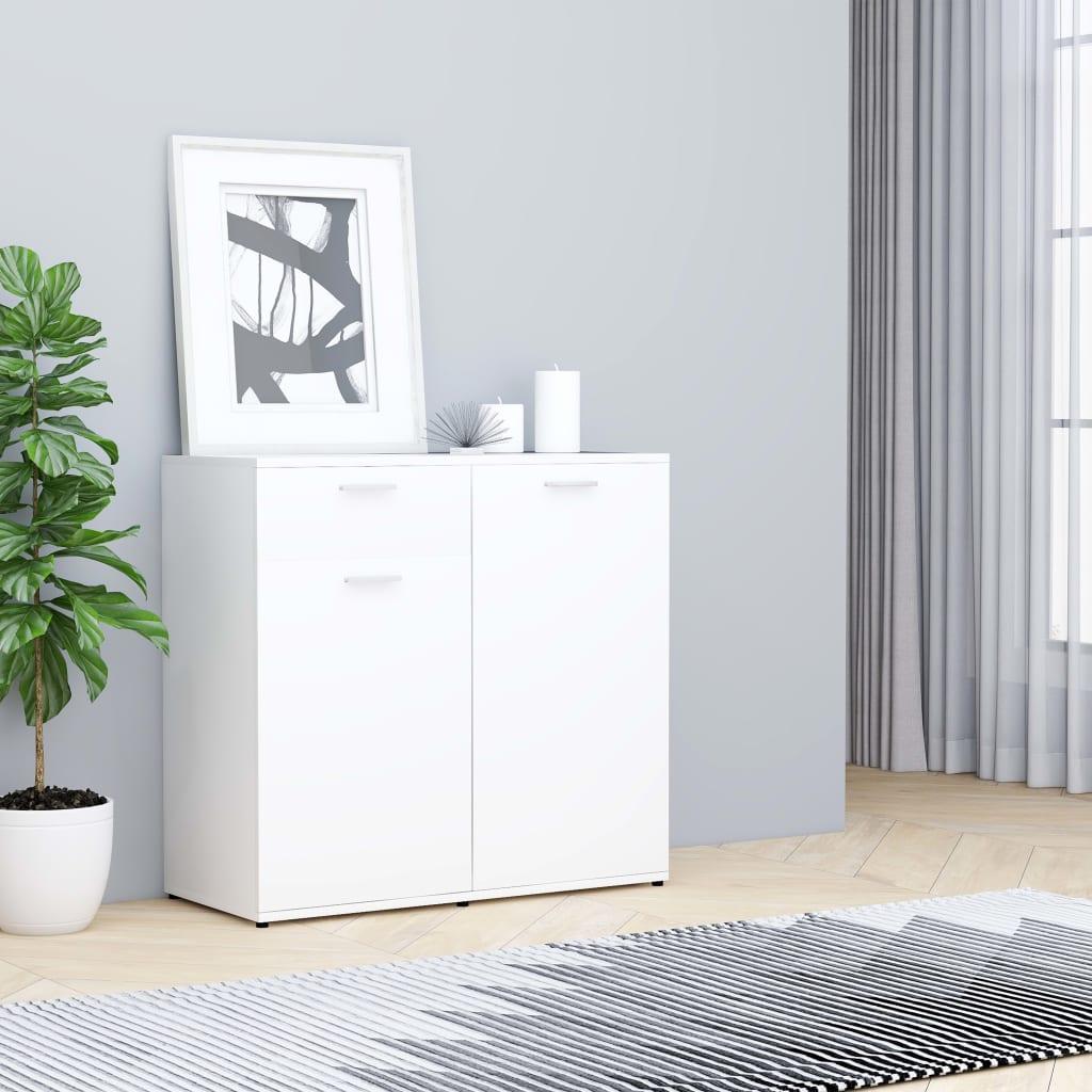 vidaXL Příborník bílý 80 x 36 x 75 cm dřevotříska