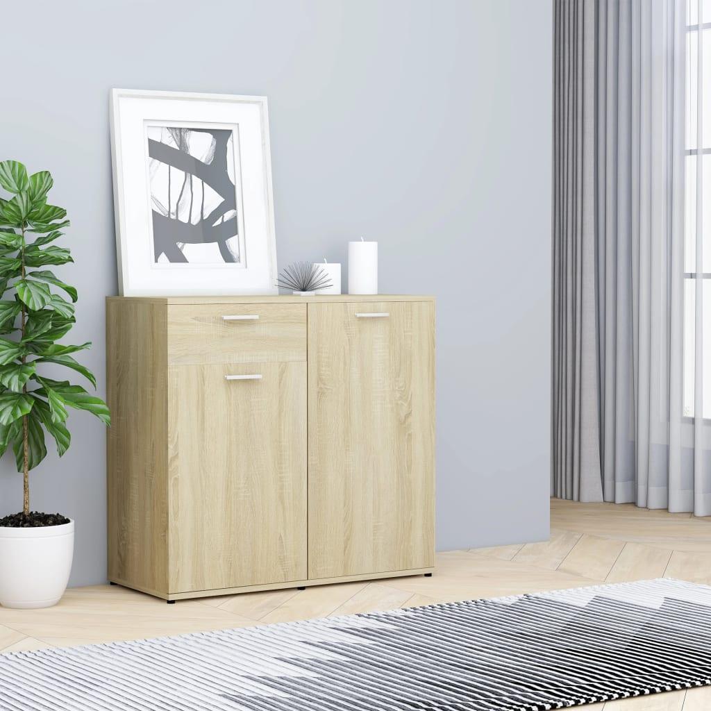 Puhvetkapp, Sonoma tamm, 80 x 36 x 75 cm puitlaas..