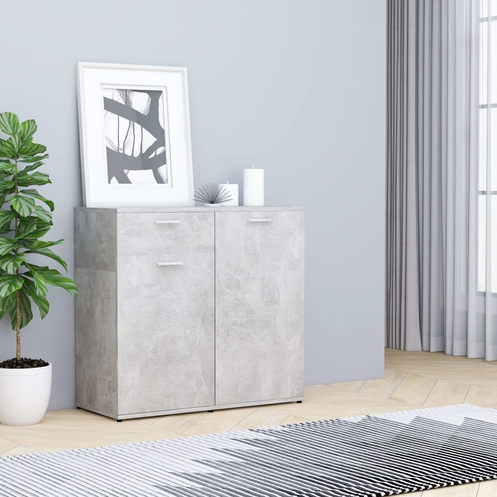 vidaXL Příborník betonově šedý 80 x 36 x 75 cm dřevotříska
