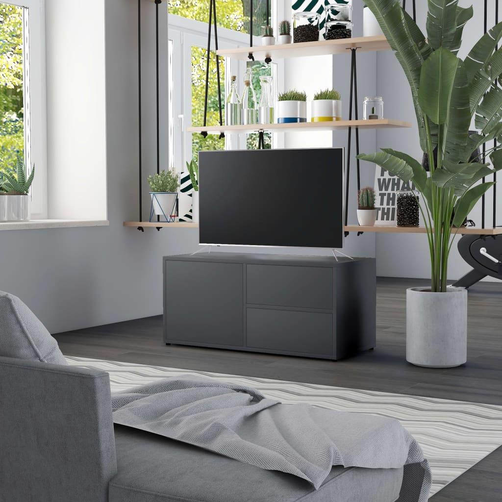 TV stolek šedý 80 x 34 x 36 cm dřevotříska