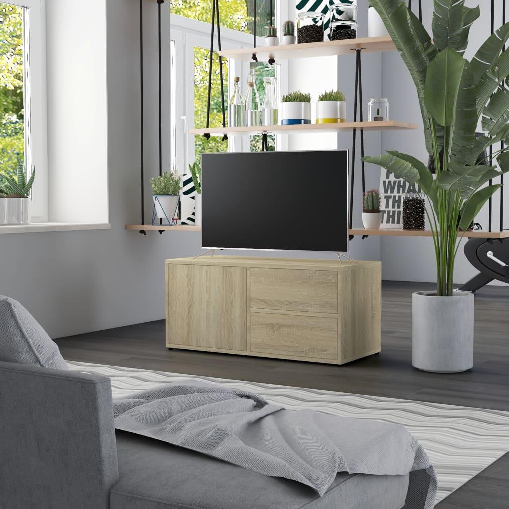 TV stolek dub sonoma 80 x 34 x 36 cm dřevotříska