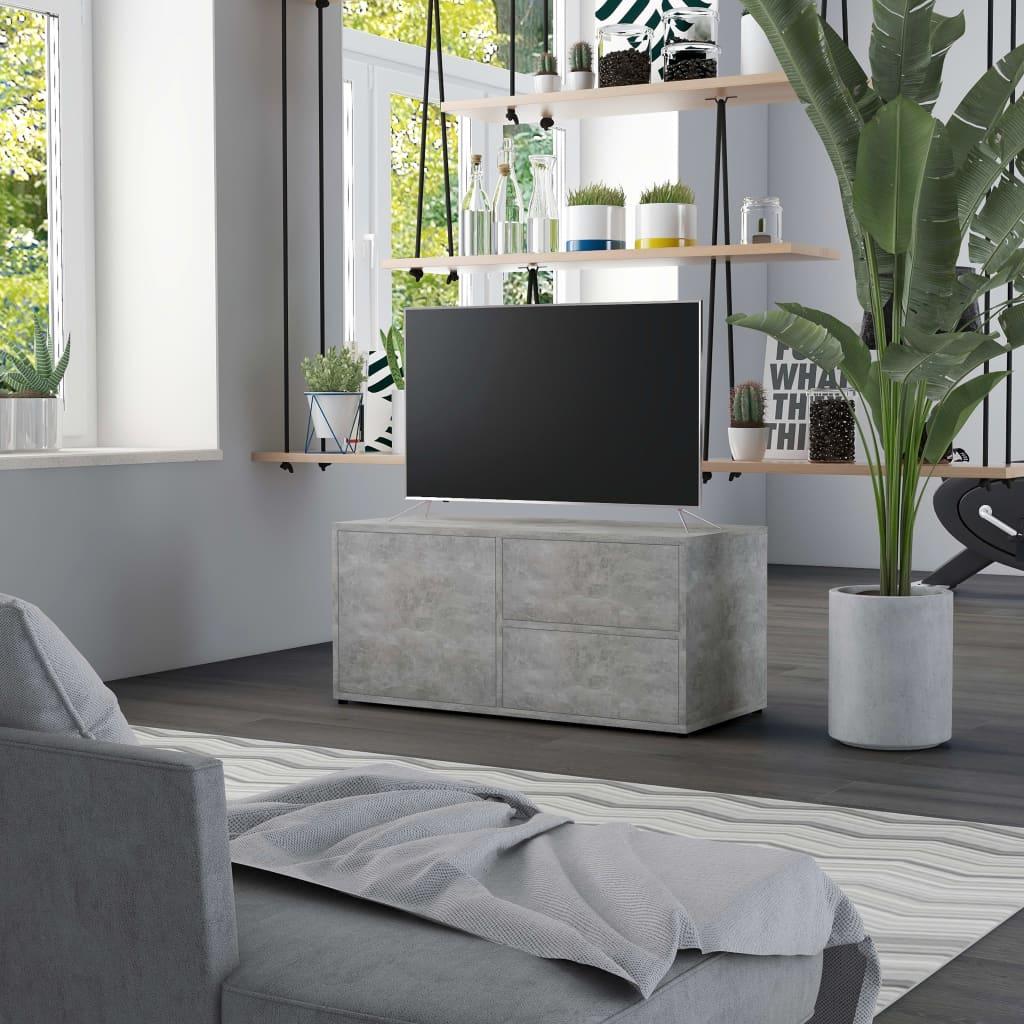 TV stolek betonově šedý 80 x 34 x 36 cm dřevotříska