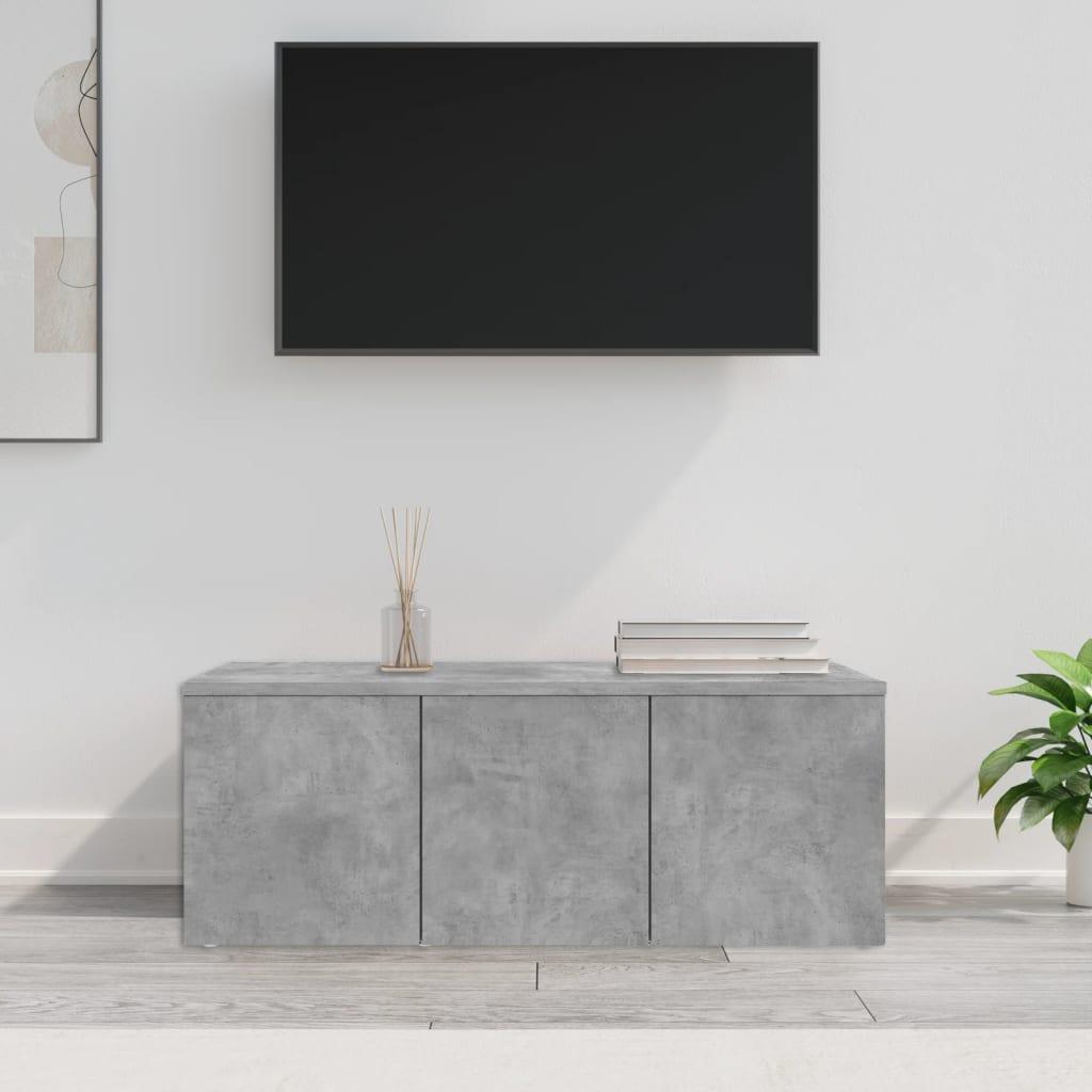 TV stolek betonově šedý 80 x 34 x 30 cm dřevotříska