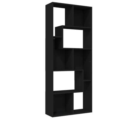 vidaXL Bibliotecă, negru, 67 x 24 x 161 cm, PAL
