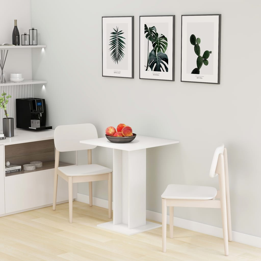 Bistro stolek bílý 60 x 60 x 75 cm dřevotříska