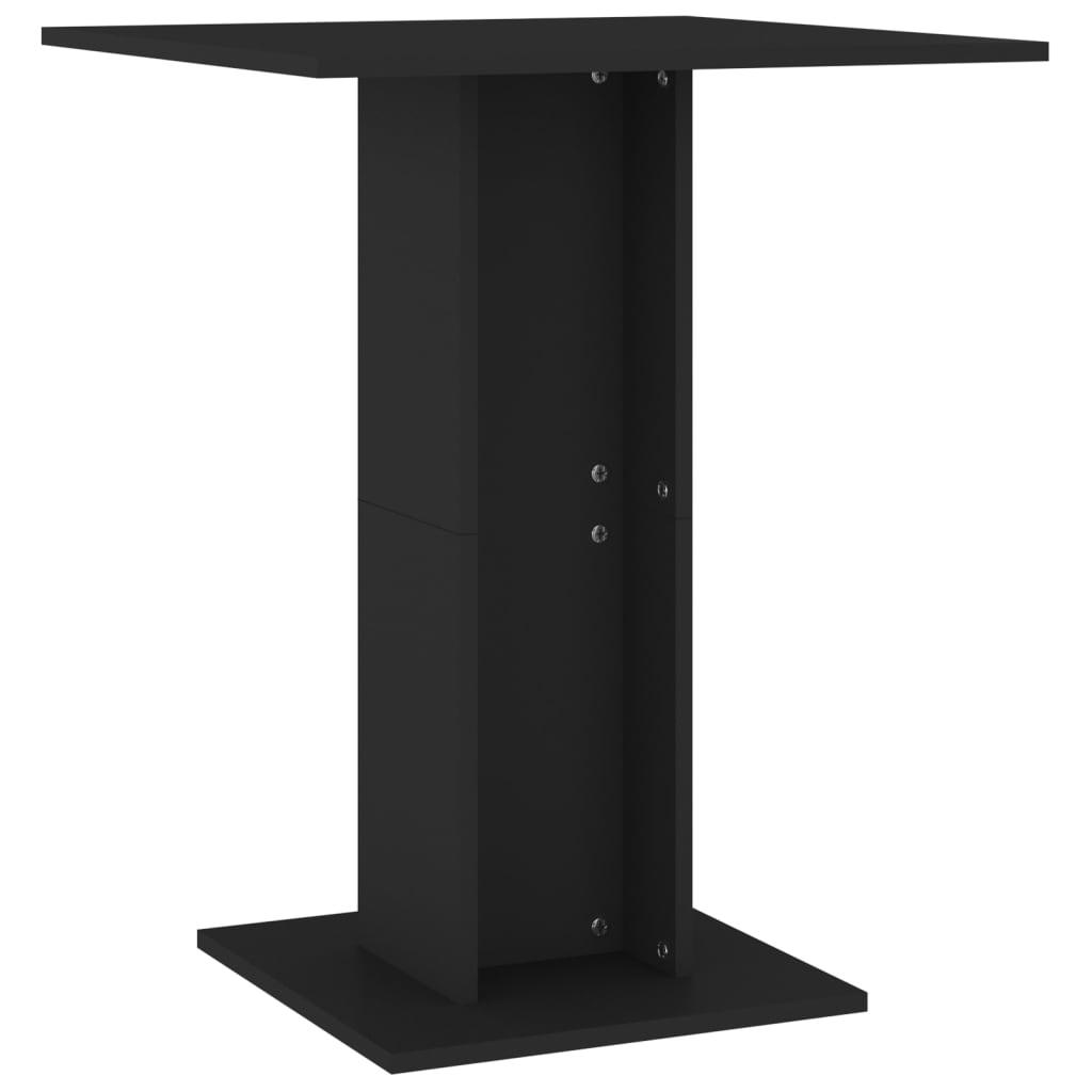 vidaXL Τραπέζι Μπιστρό Μαύρο 60 x 60 x 75 εκ. Μοριοσανίδα