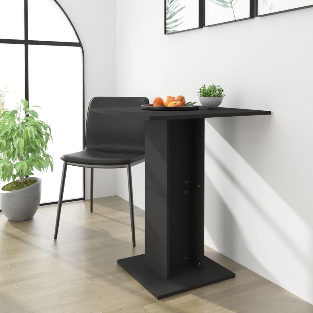 vidaXL Masă de bistro, negru, 60 x 60 x 75 cm, PAL vidaxl.ro