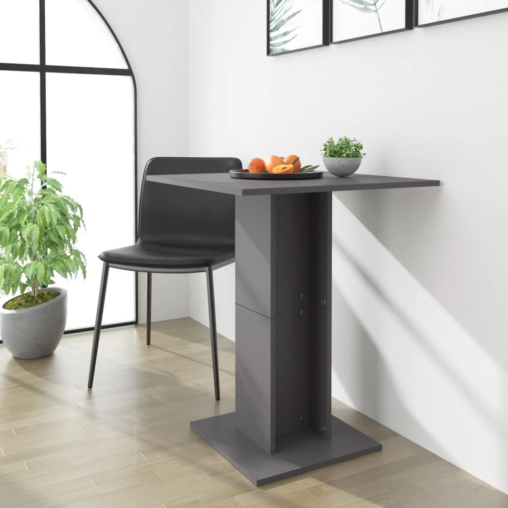 Bistro stolek šedý 60 x 60 x 75 cm dřevotříska