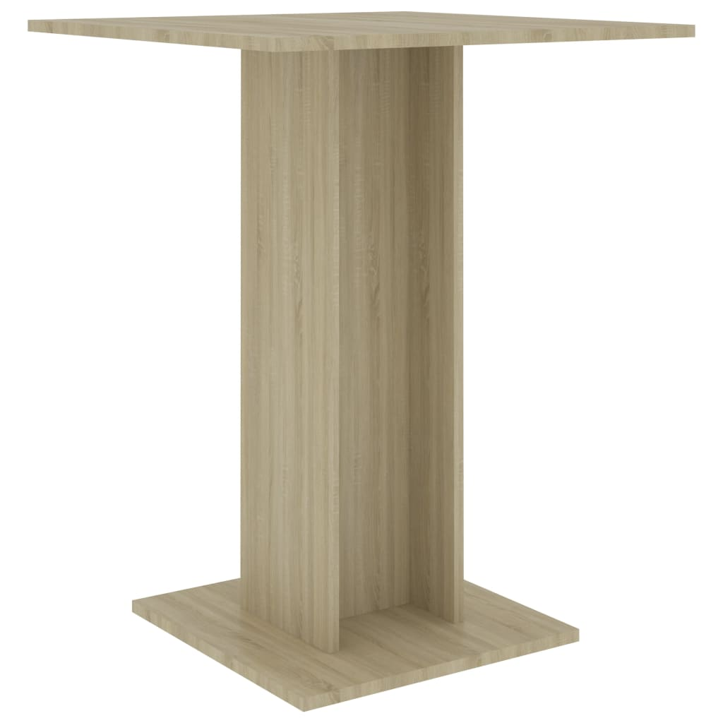 vidaXL Τραπέζι Μπιστρό Χρώμα Sonoma Δρυς 60 x 60 x 75 εκ. Μοριοσανίδα