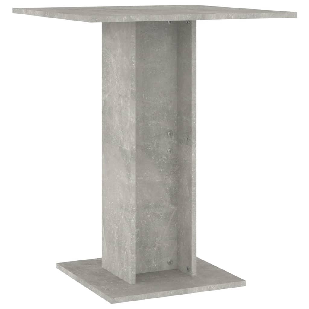 vidaXL Τραπέζι Μπιστρό Γκρι Σκυροδέματος 60 x 60 x 75 εκ. Μοριοσανίδα