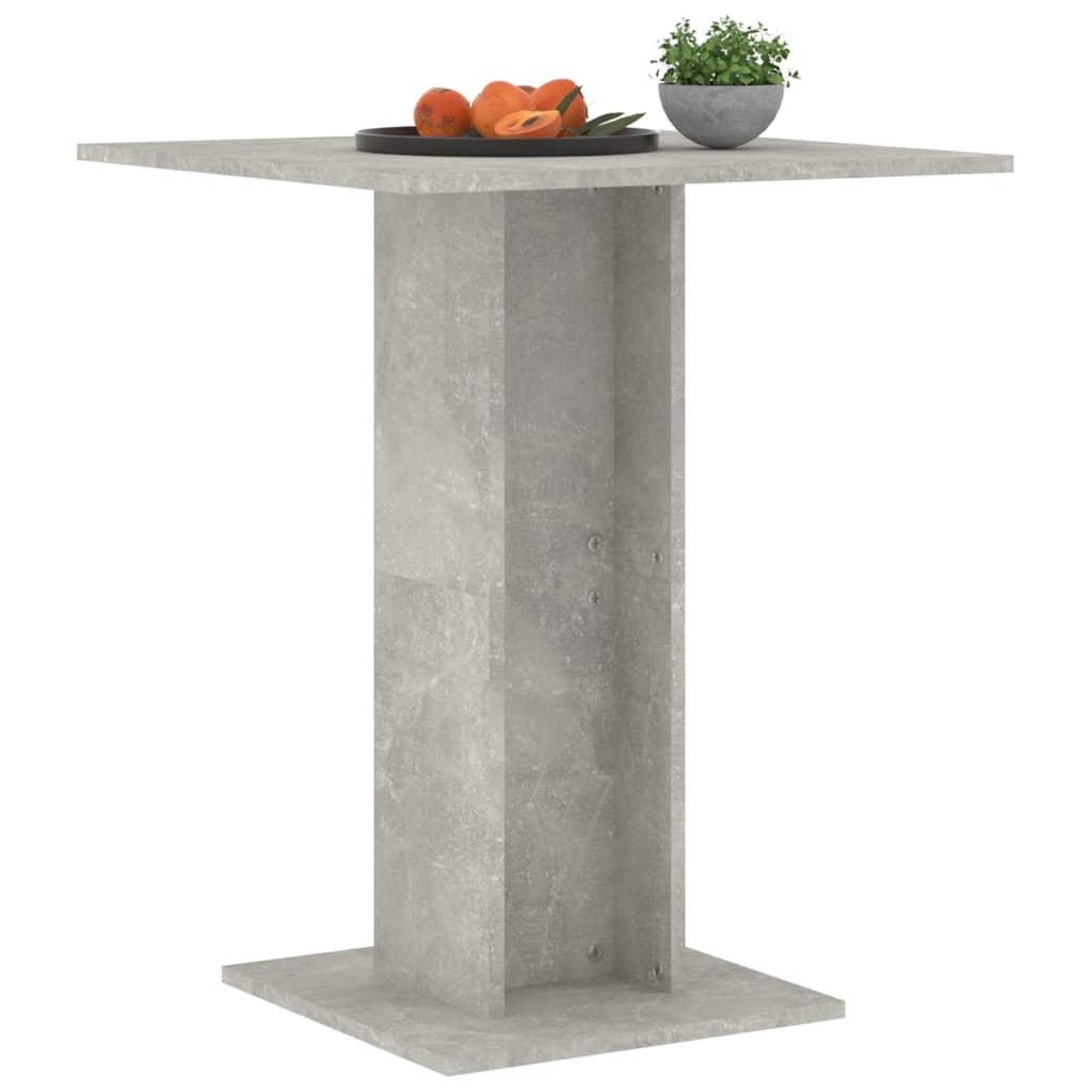 vidaXL Bistrotafel 60x60x75 cm spaanplaat betongrijs