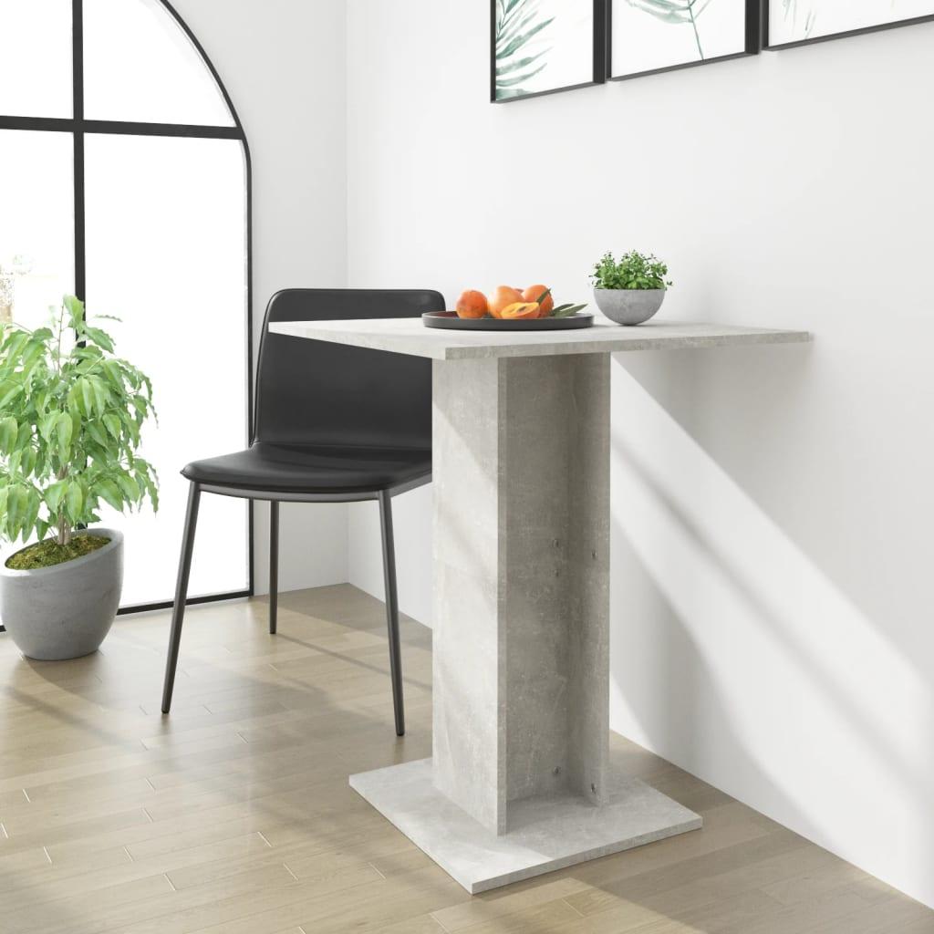 Bistro stolek betonově šedý 60 x 60 x 75 cm dřevotříska