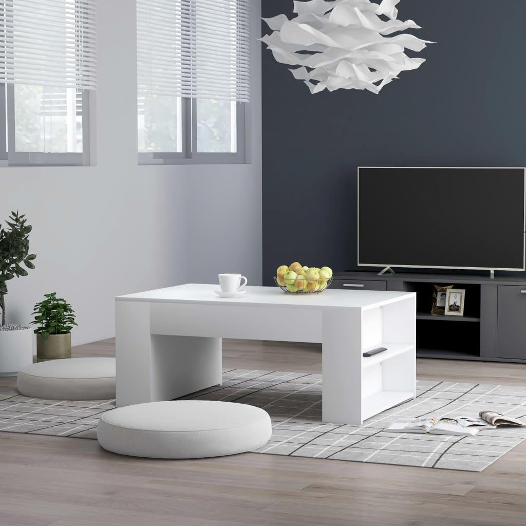 vidaXL Konferenční stolek bílý 100 x 60 x 42 cm dřevotříska