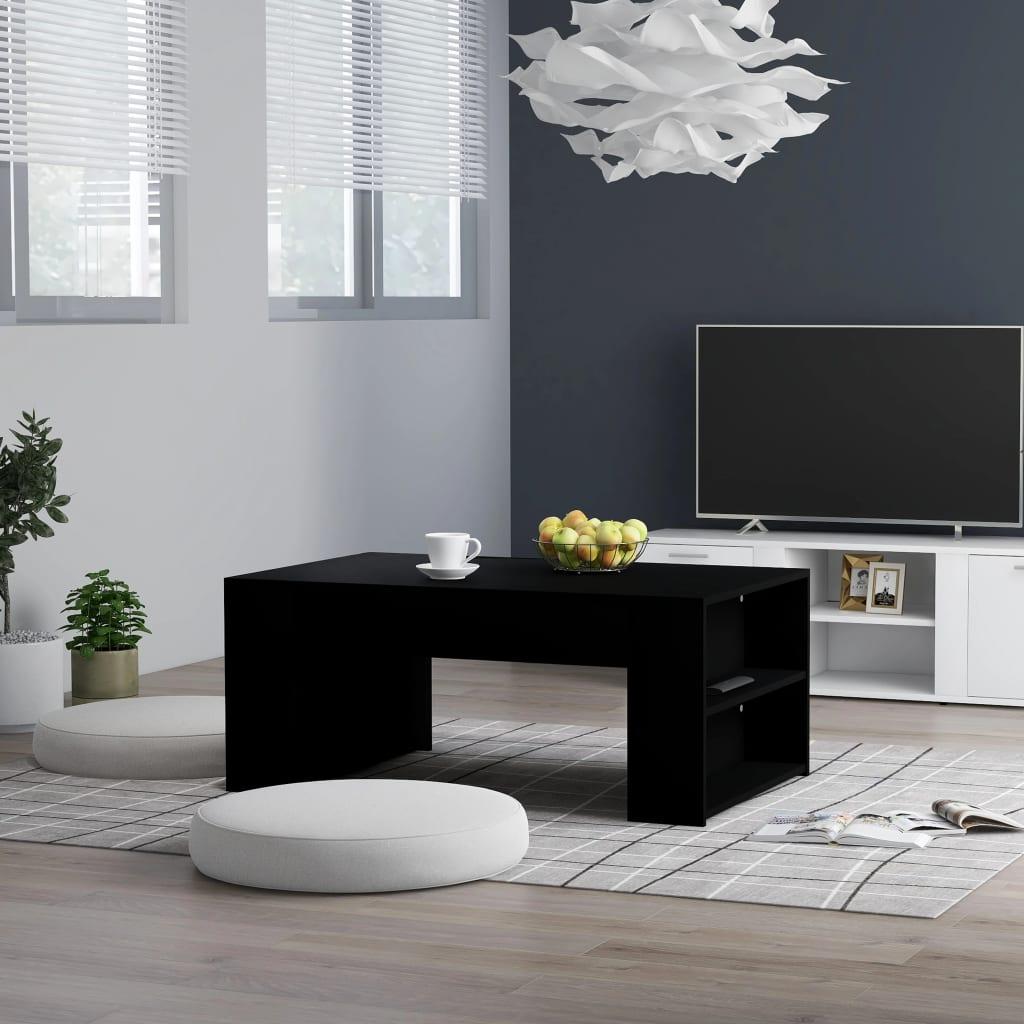 vidaXL Konferenční stolek černý 100 x 60 x 42 cm dřevotříska