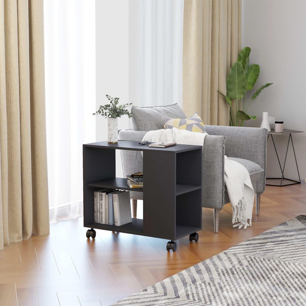 Odkládací stolek šedý 70 x 35 x 55 cm dřevotříska