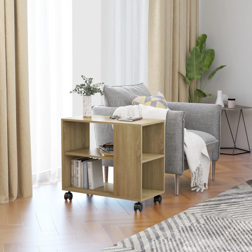 Odkládací stolek dub sonoma 70 x 35 x 55 cm dřevotříska