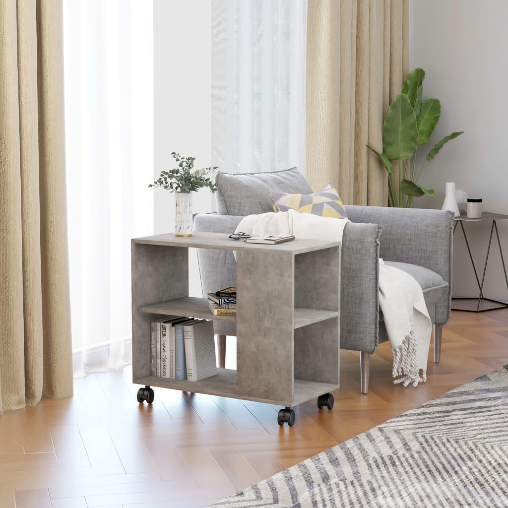 Odkládací stolek betonově šedý 70 x 35 x 55 cm dřevotříska