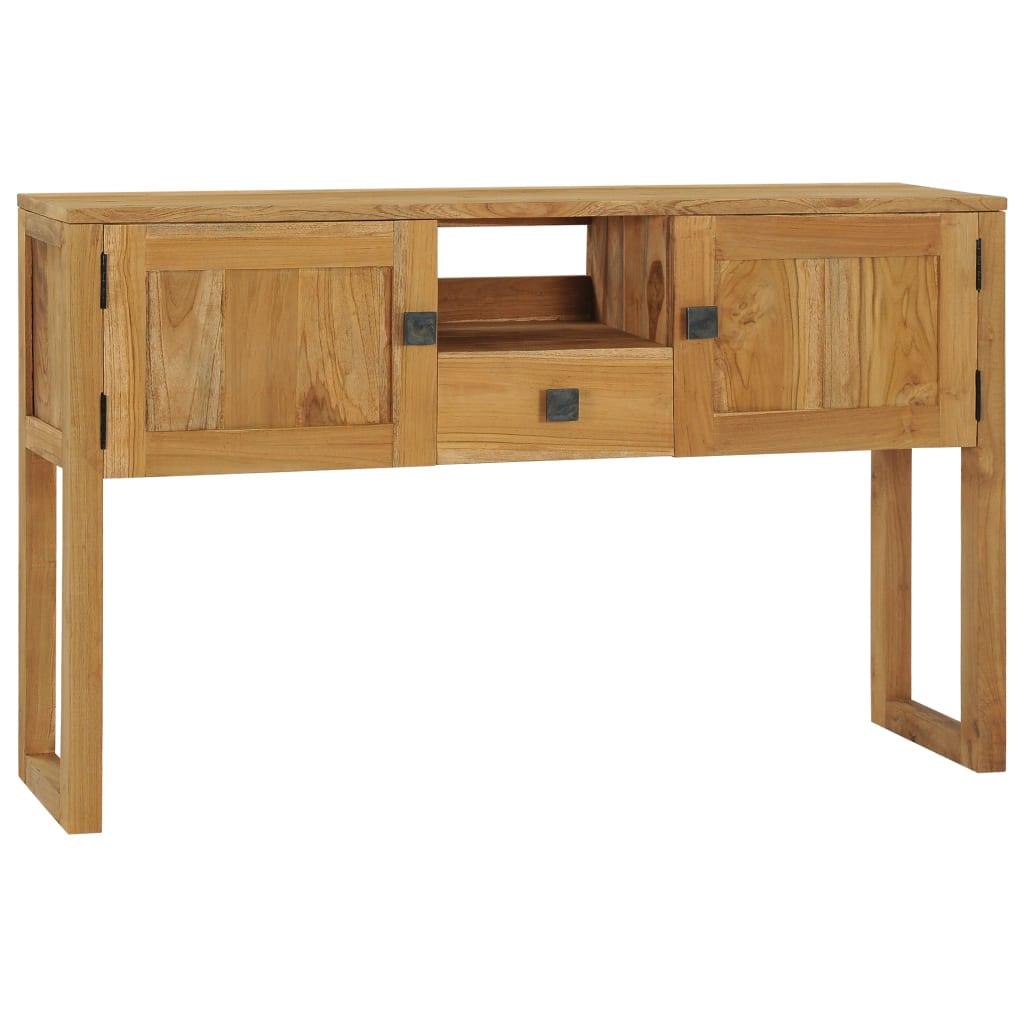 vidaXL Masă consolă, 120 x 32 x 75 cm, lemn masiv de tec poza 2021 vidaXL