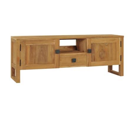 vidaXL Tv-meubel 120x32x45 cm massief teakhout