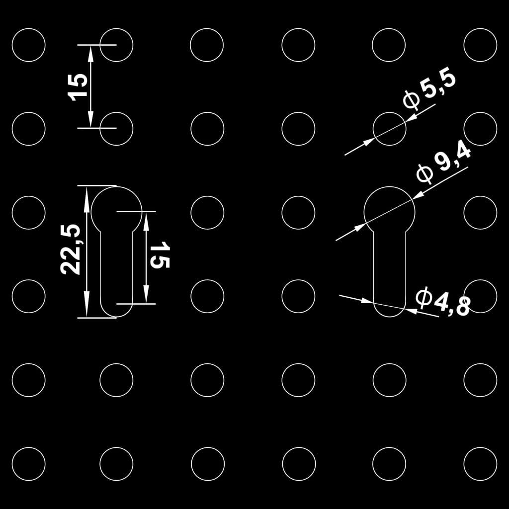 vidaXL Werkbank met vier wandpanelen en twee kasten